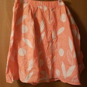 Lane Bryant coral skirt